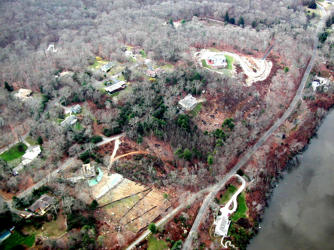 Aerial View of River Road, Deep River 2006