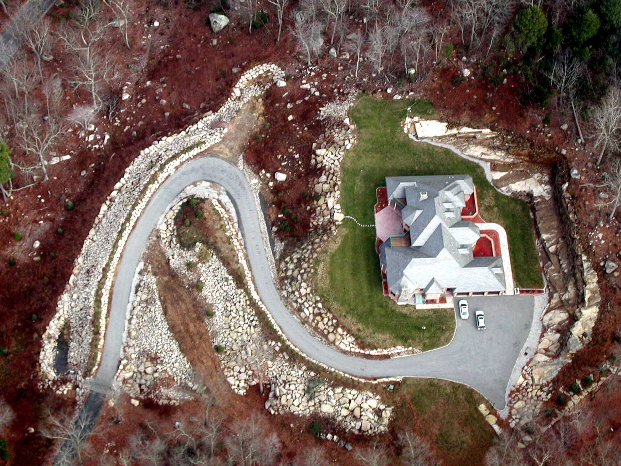 Aerial View of Residential Structure, River Road, Deep River 2006