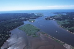 Aerial of Lower CT River Estuary