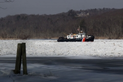 Coast Guard Ice Breaker off Deep River and Lyme 1/19/18